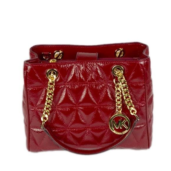 d2dac84d6aff Michael Kors Bags | Sausannah Cherry Md Tote Leather | Poshmark